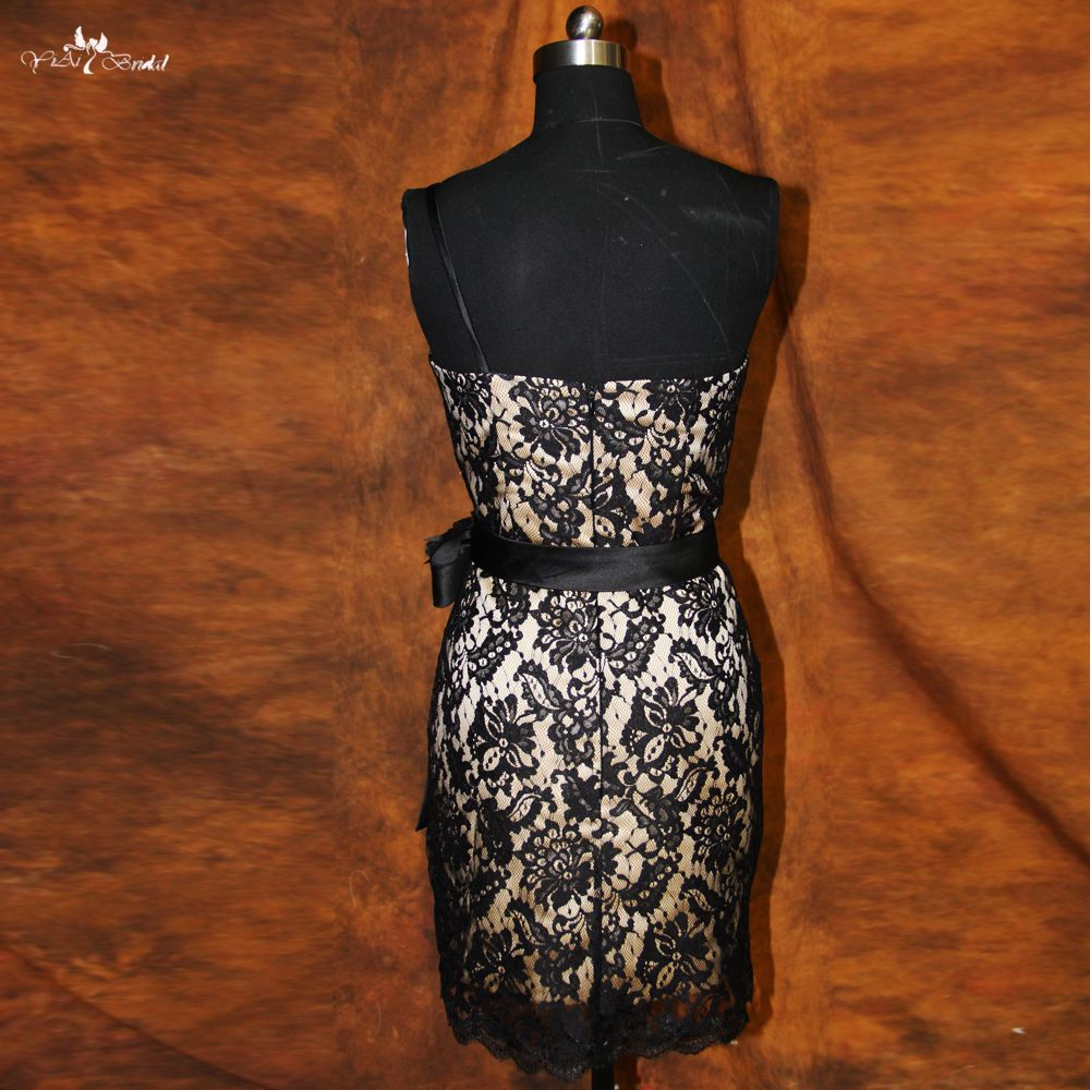Rse one shoulder black lace cocktail dress click visit to buy