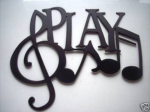 Metal Wall Art Decor Music Play And Notes Made Of Steel Painted