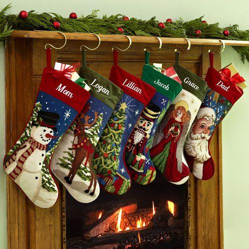 personalized needlepoint christmas stocking walmartcom - Christmas Stockings Walmart