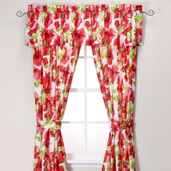 Teen VogueR Painted Poppy Window Treatments In Red 70 Liked On Polyvore