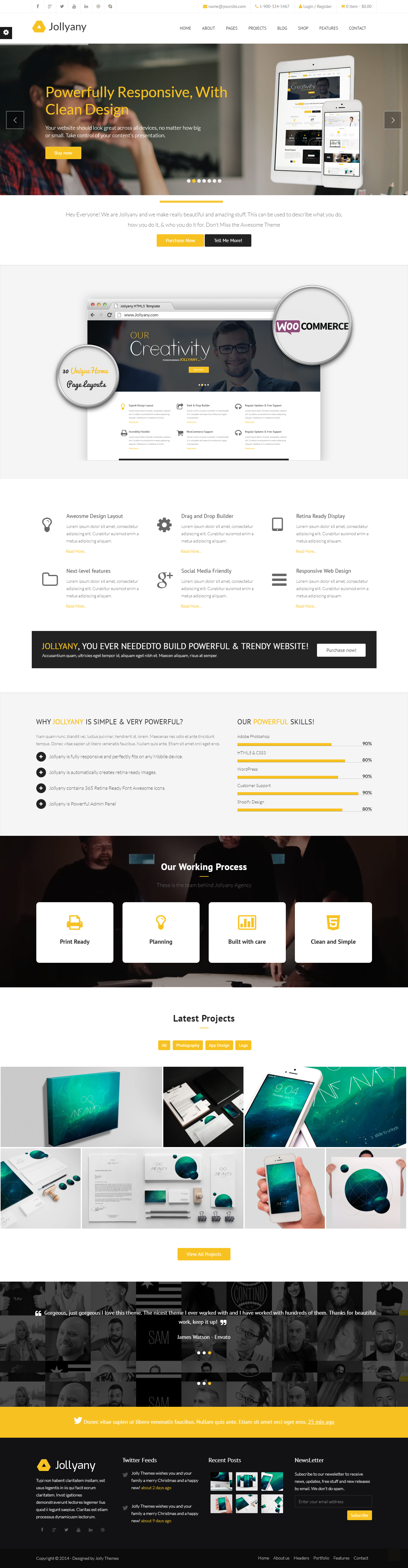 Jollyany A Classy Multipurpose WordPress Theme available for