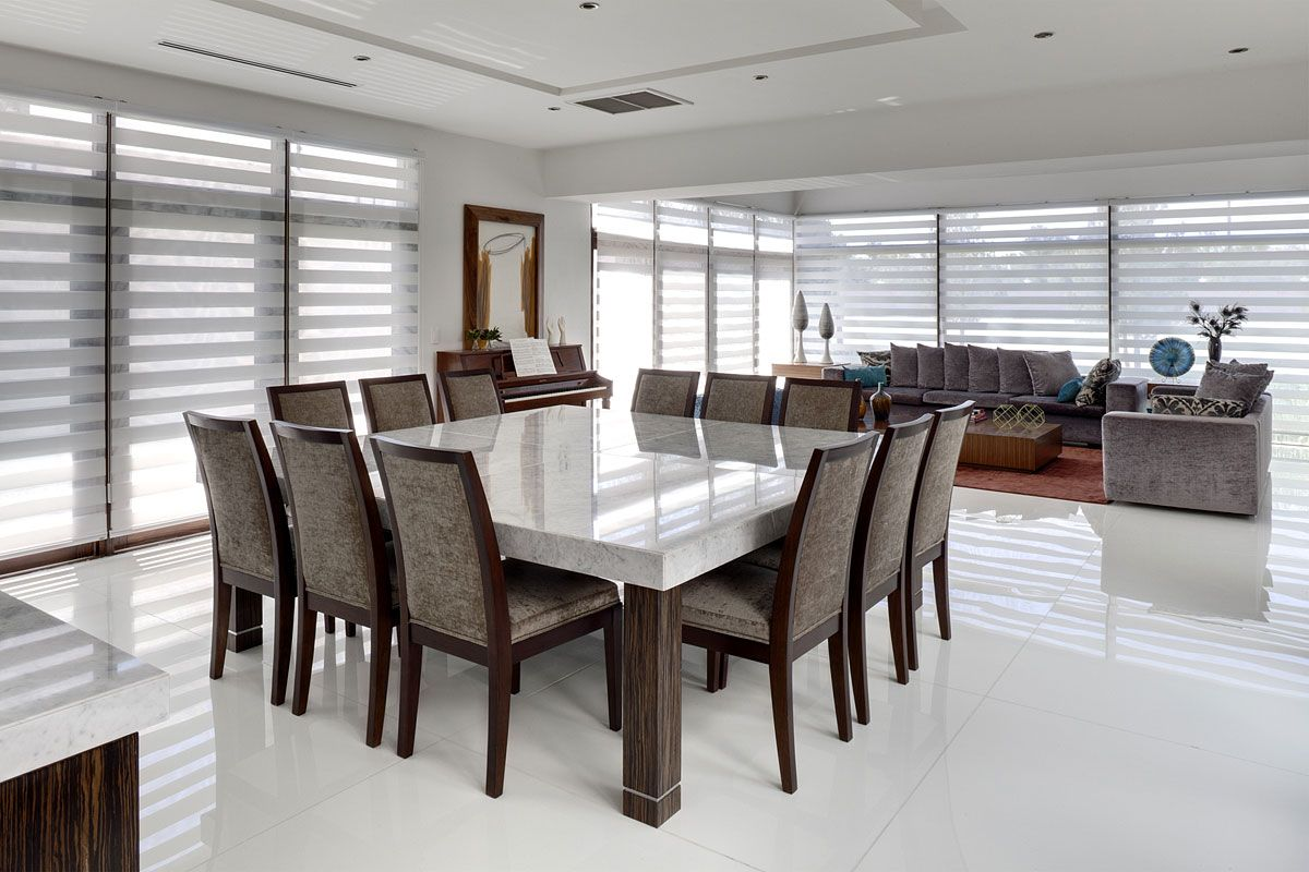 23 Designs For Epically Large Dining Rooms Square Dining Room