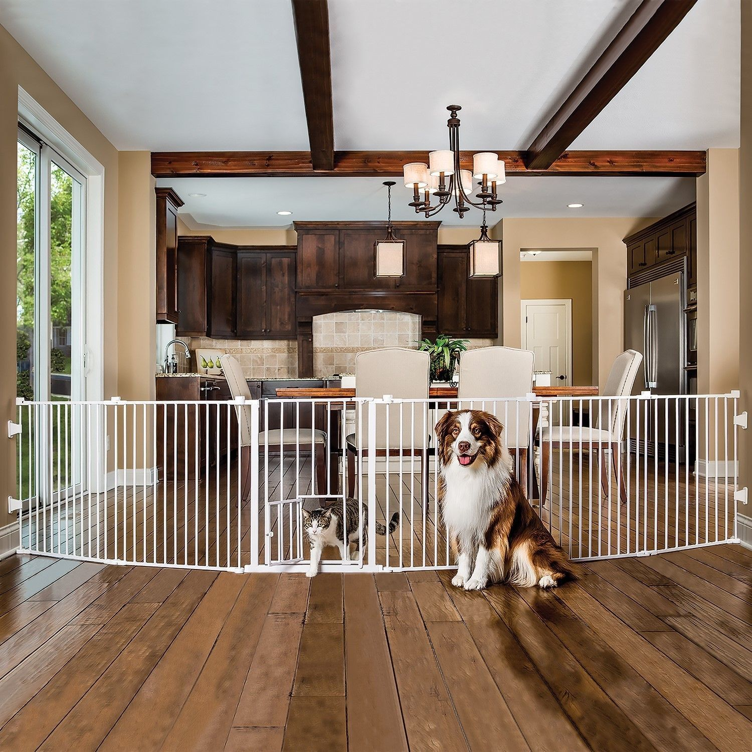 Carlson 2 In 1 White Super Pet Gate And Pet Yard Convertible