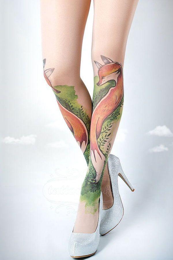 e83b7211c21 Artists Gabby and Idan (aka tattoosocks) create artistically patterned  tights