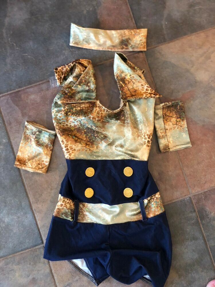 ac7db1156 country dance costume gold denim youth medium sparkly cute cotton ...