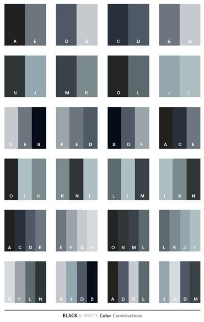 Black White Color Schemes