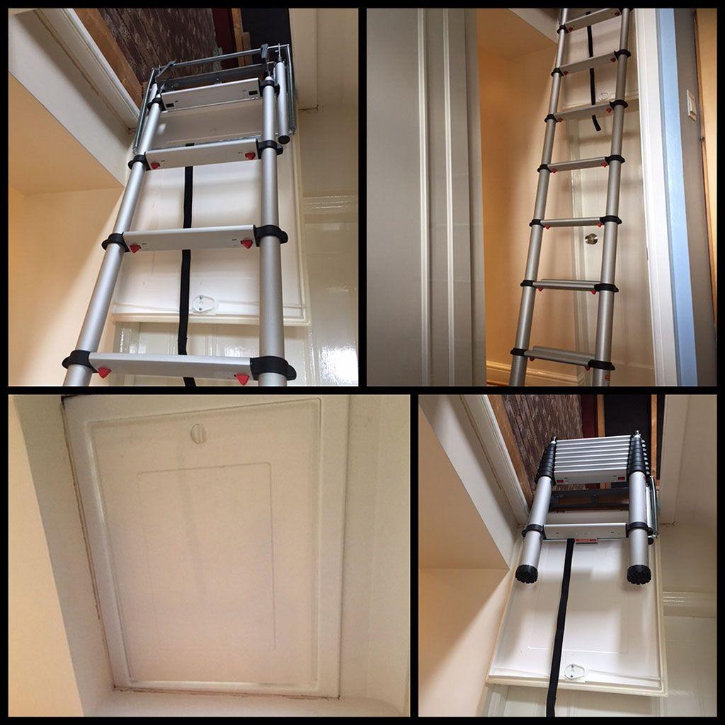 Compact Loft Ladder Solves Narrow Corridor Problem Loft Ladder Attic Renovation Attic Ladder