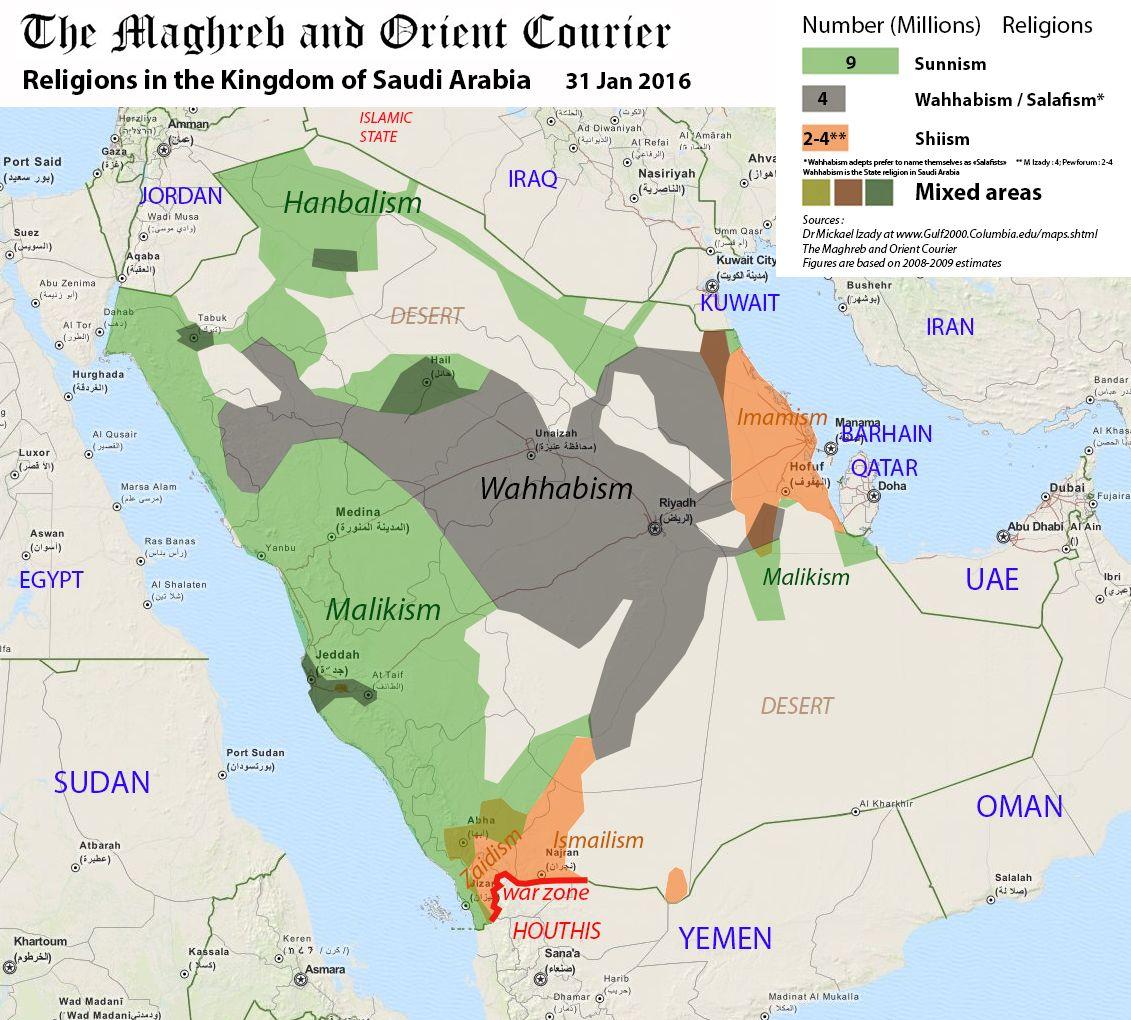 Arab World Maps La Realite Religieuse De L Arabie Saoudite The Maghreb And Orient Courier Arabie Saoudite Geographie Religieuse