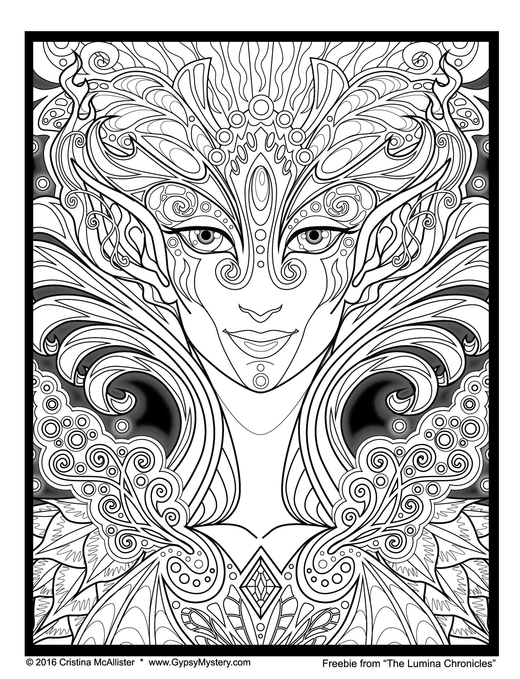 CRISTINA MCALLISTER – Maniacal Confessions   Coloring pages   Pinterest   Coloriage, Colorier