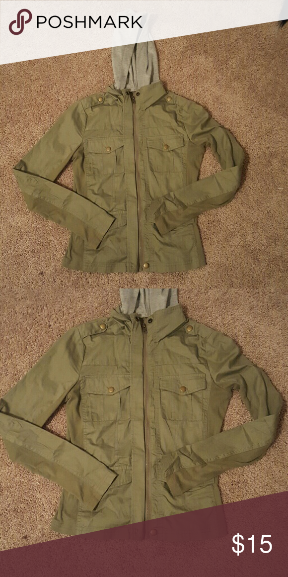 Green army jacket Charlotte Russe green army jacket Charlotte Russe Jackets & Coats