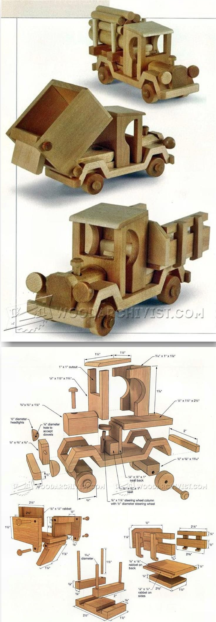 Wooden Toy Truck Plans - Wooden Toy Plans and Projects ...