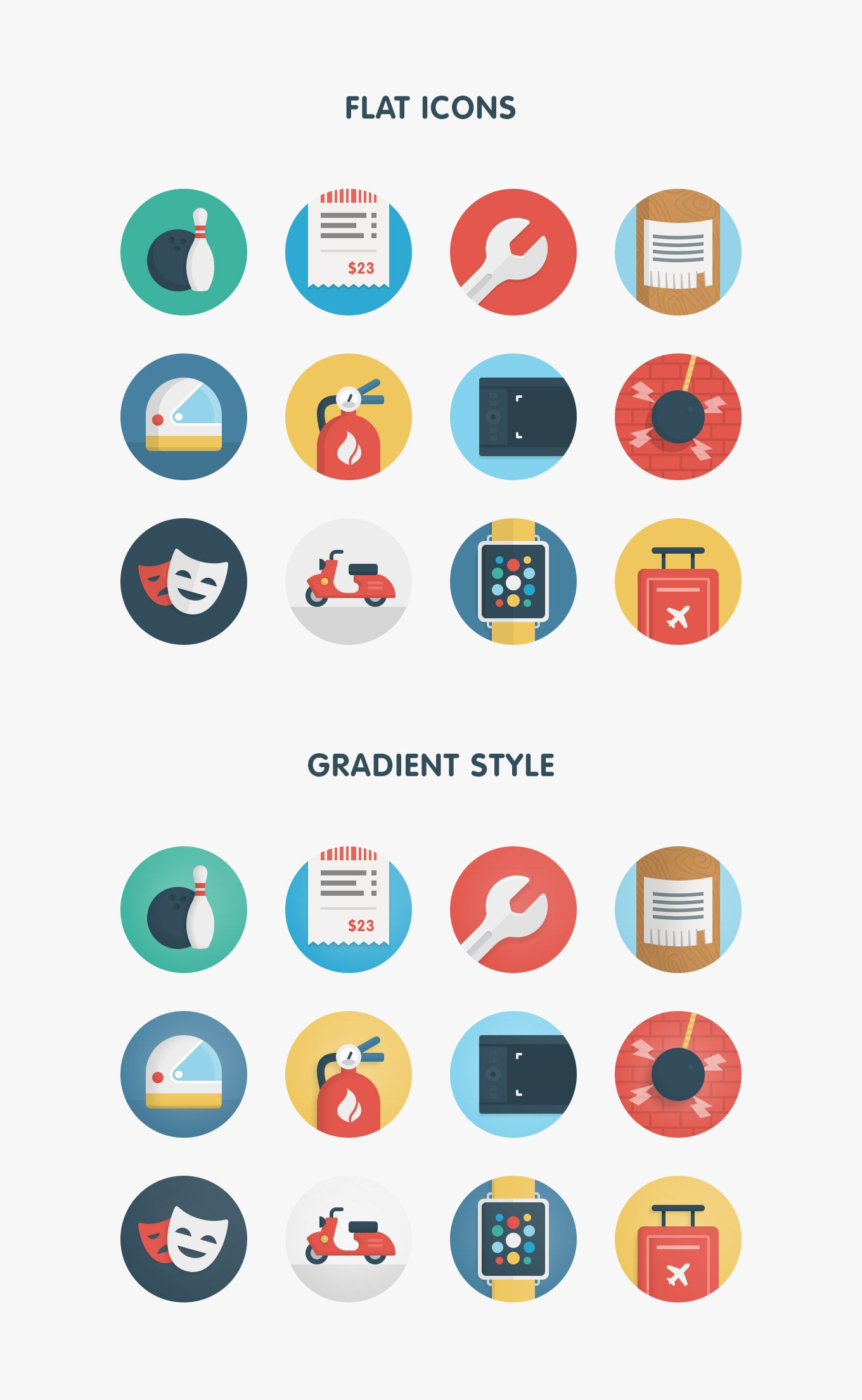 Ballicons free flat icons pack vector set in SVG, AI, EPS