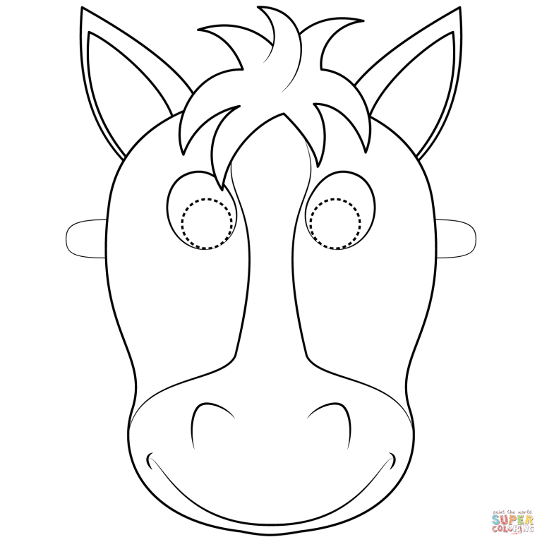 Free Printable Coloring Pages Intended For Horse Mask Coloring Pages Horse Coloring Pages Horse Coloring Animal Coloring Pages