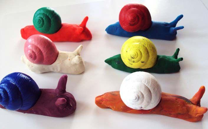 escargots en pate modeler brico avec les enfants. Black Bedroom Furniture Sets. Home Design Ideas