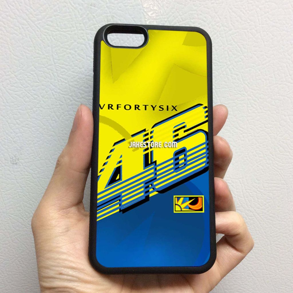 Valentino Rossi VR46 Movistar Yamaha iPhone Rubber Case 4 4s 5 5s 5c 6 6s Plus Softcase Hybrid