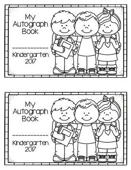 graphic relating to Printable Autograph Book for Students named Autograph Reserve totally free Function upon producing Kindergarten guides