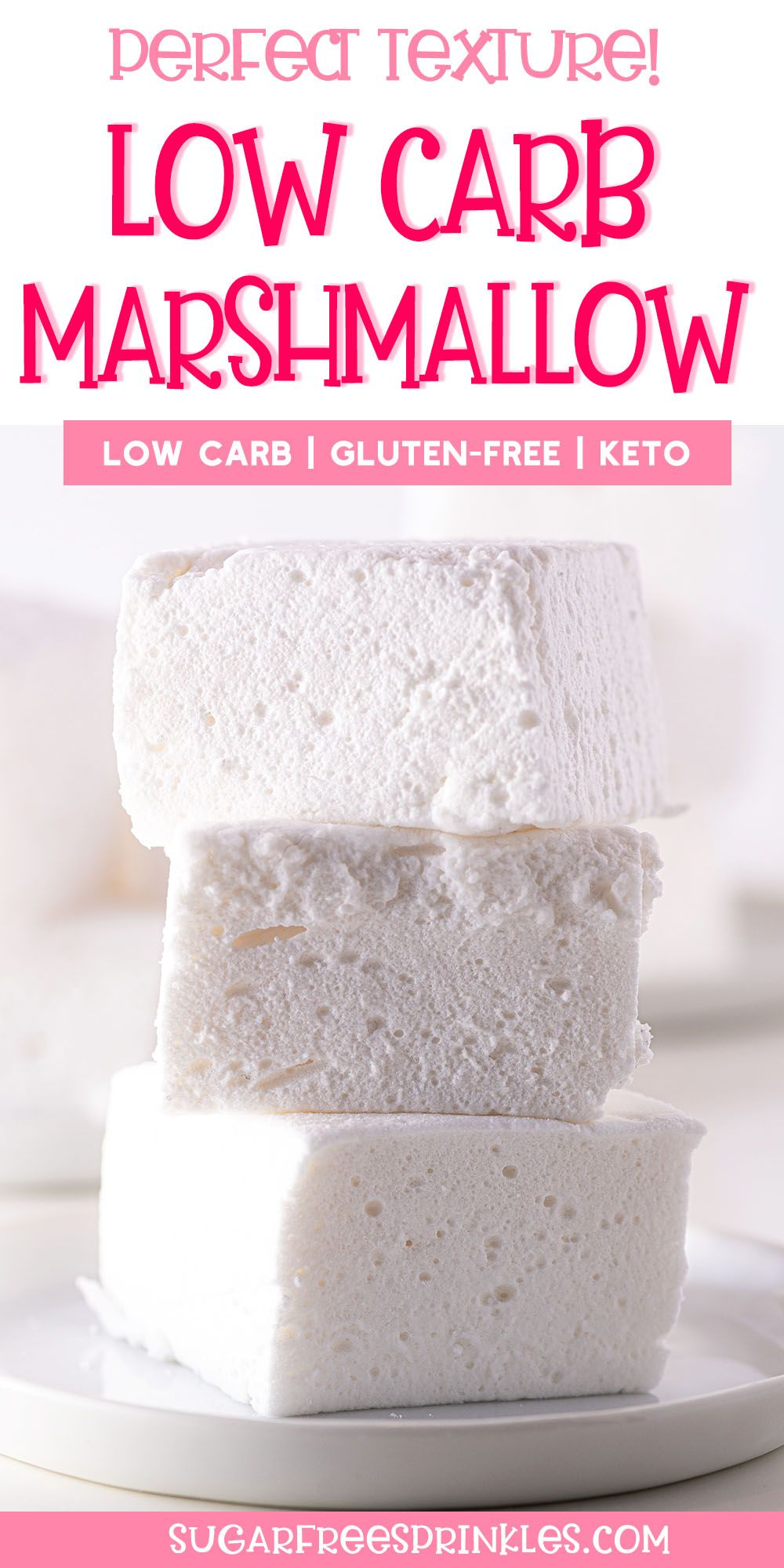 Fluffy & Perfect Low Carb Marshmallows!