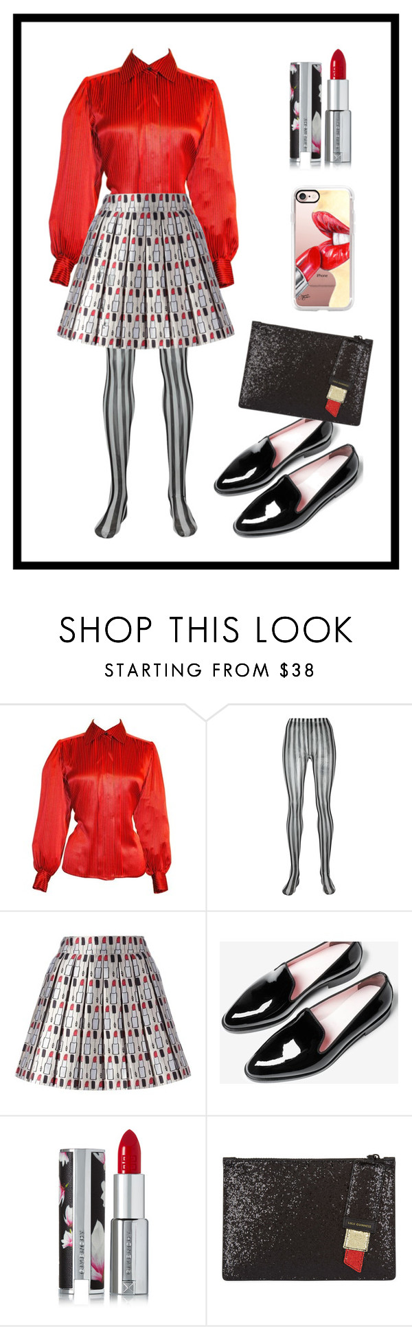 """""""Untitled #104"""" by curlyelizabeth ❤ liked on Polyvore featuring Yves Saint Laurent, Dolce&Gabbana, Alice + Olivia, Givenchy, Lulu Guinness and Casetify"""