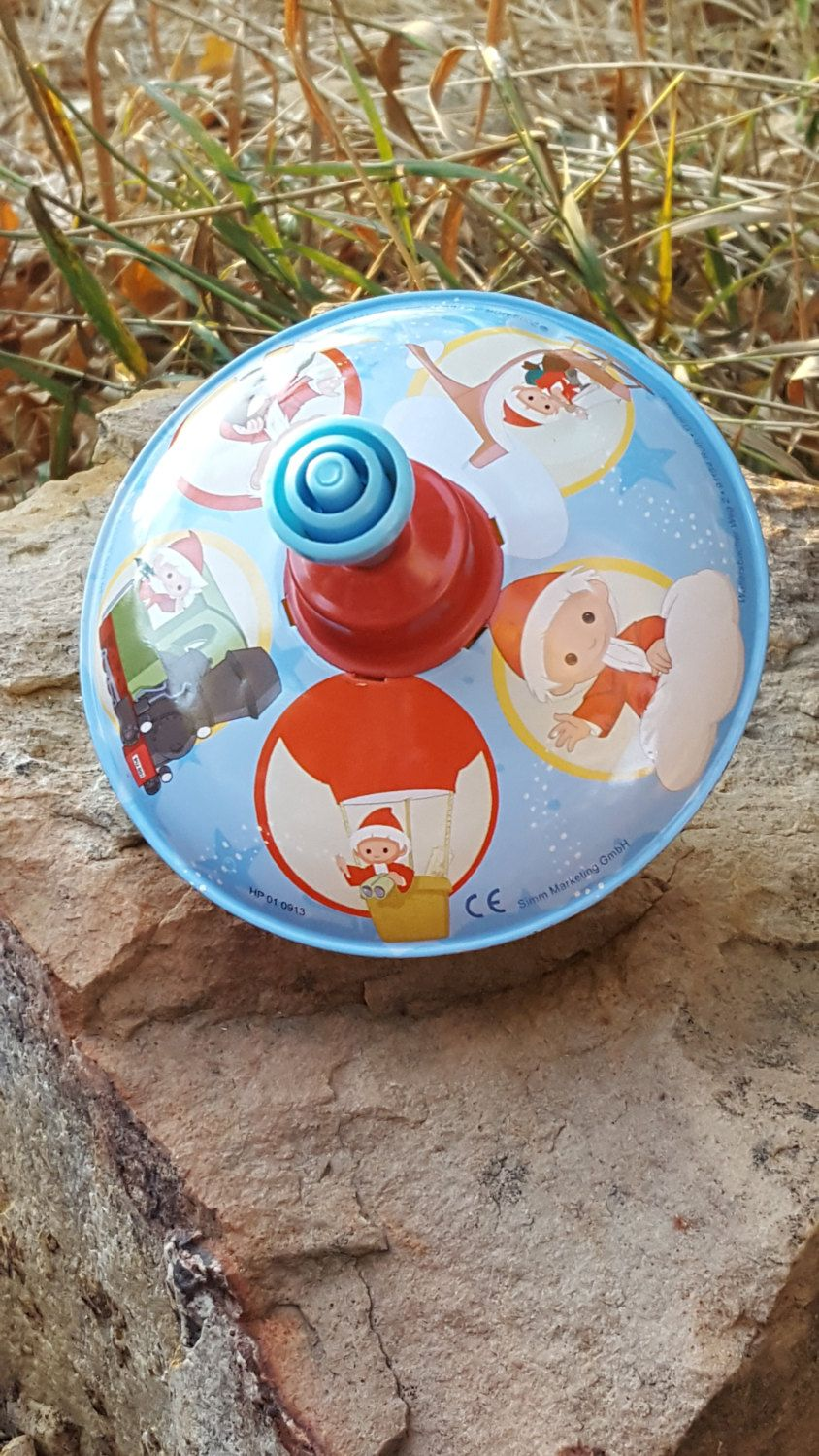 Vintage Child Top~Made in Germany GMBH~Christmas Elves/Santa Claus Top~Spinning Top~Child Toy~Christmas Top~Works great! ~ JewelsandMetals. by JewelsandMetals on Etsy