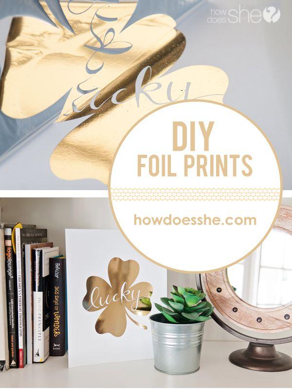 Easy Diy Gold Foil Prints Gold Foil Diy Gold Diy Diy Foil