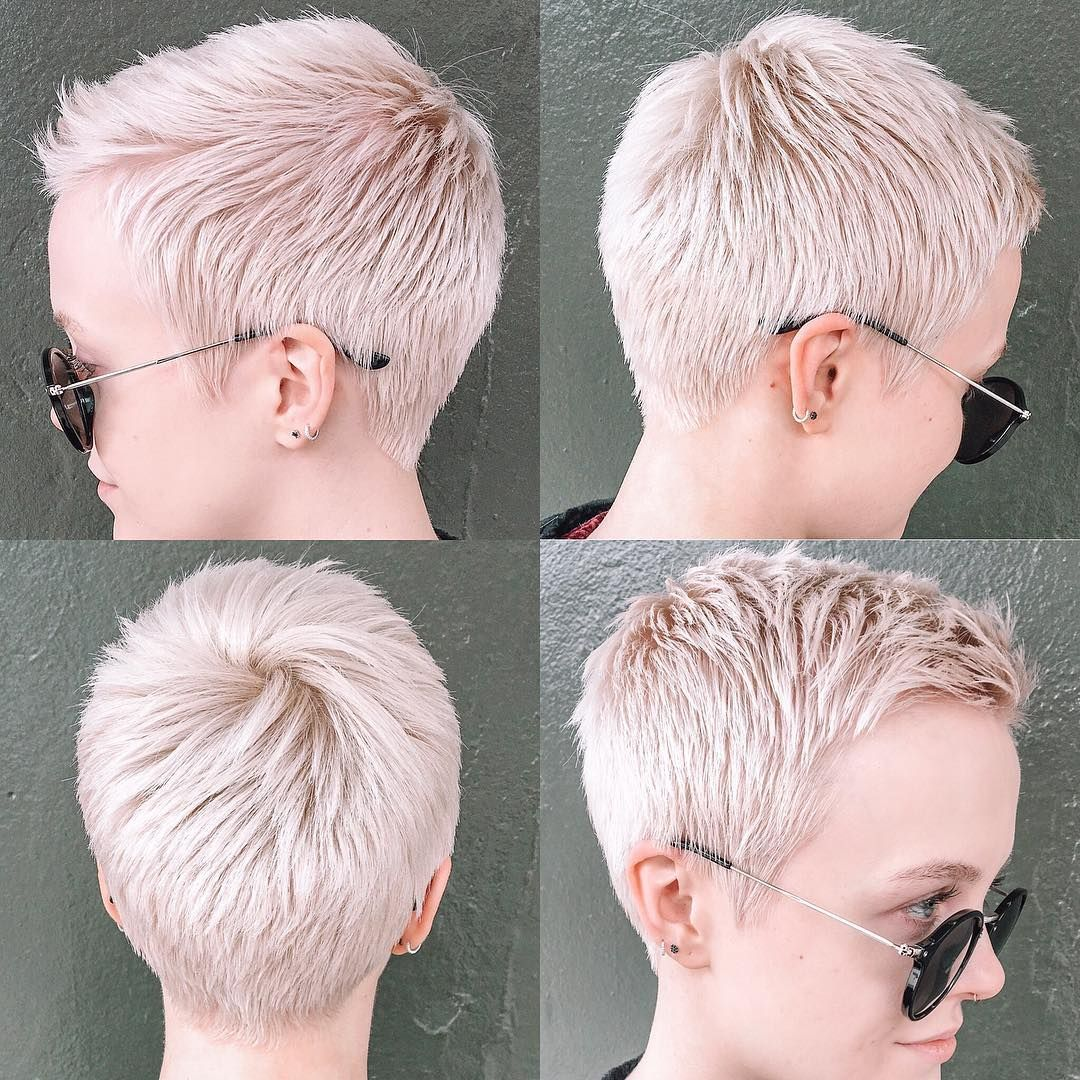 Sarah B On Instagram Foxroxyourlocks Did It Yet Again Decided To Go A Inch And A Half Shorter On Top In 2021 Short Bob Hairstyles Pixie Haircut Very Short Hair
