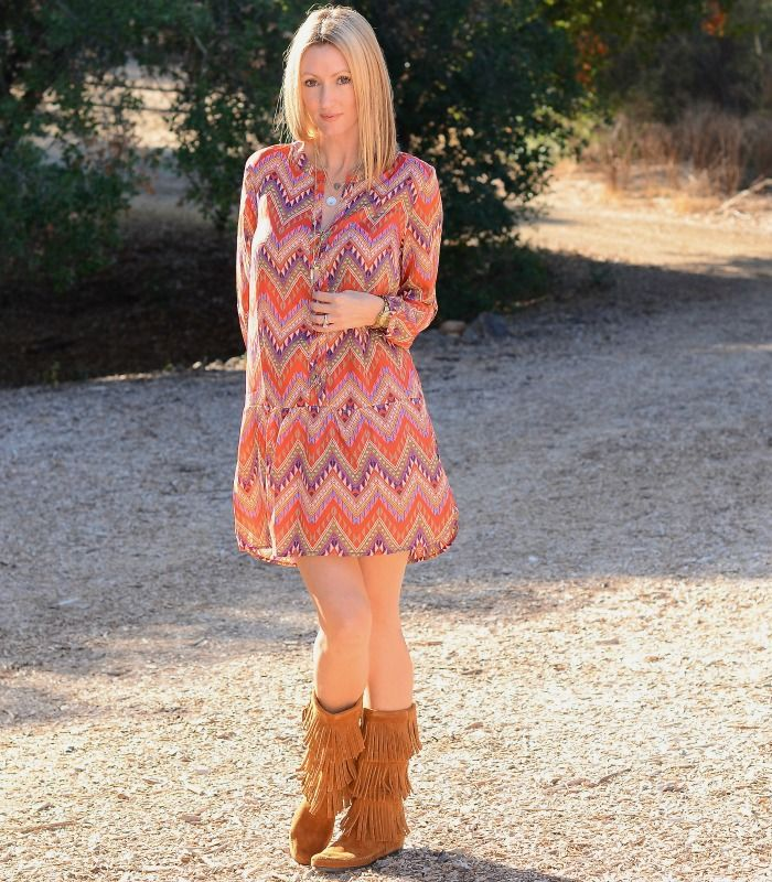 The Stylish Housewife in her pair of Minnetonka 3-Layer Fringe ...