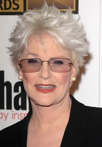 Sharon Gless-Classy Celebrity Hairstyles for Women with Gray Hair l ...