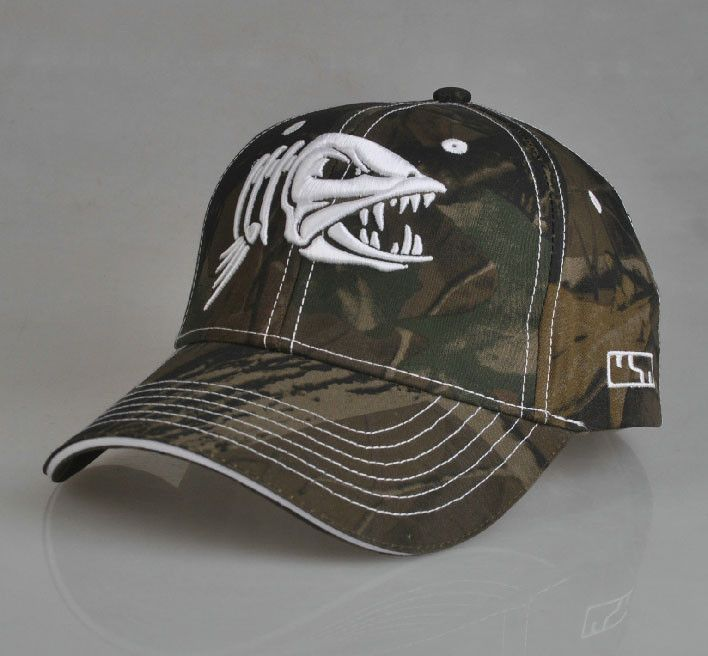 c17a12ba73afd fish pattern outdoor fishing cap baseball cap breathable cotton fishing hat  hip pop 3D fish bone embroidery