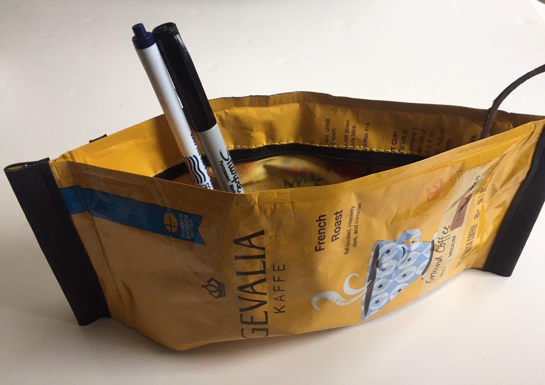 Gevalia coffee pocket bag smell that coffee zippered