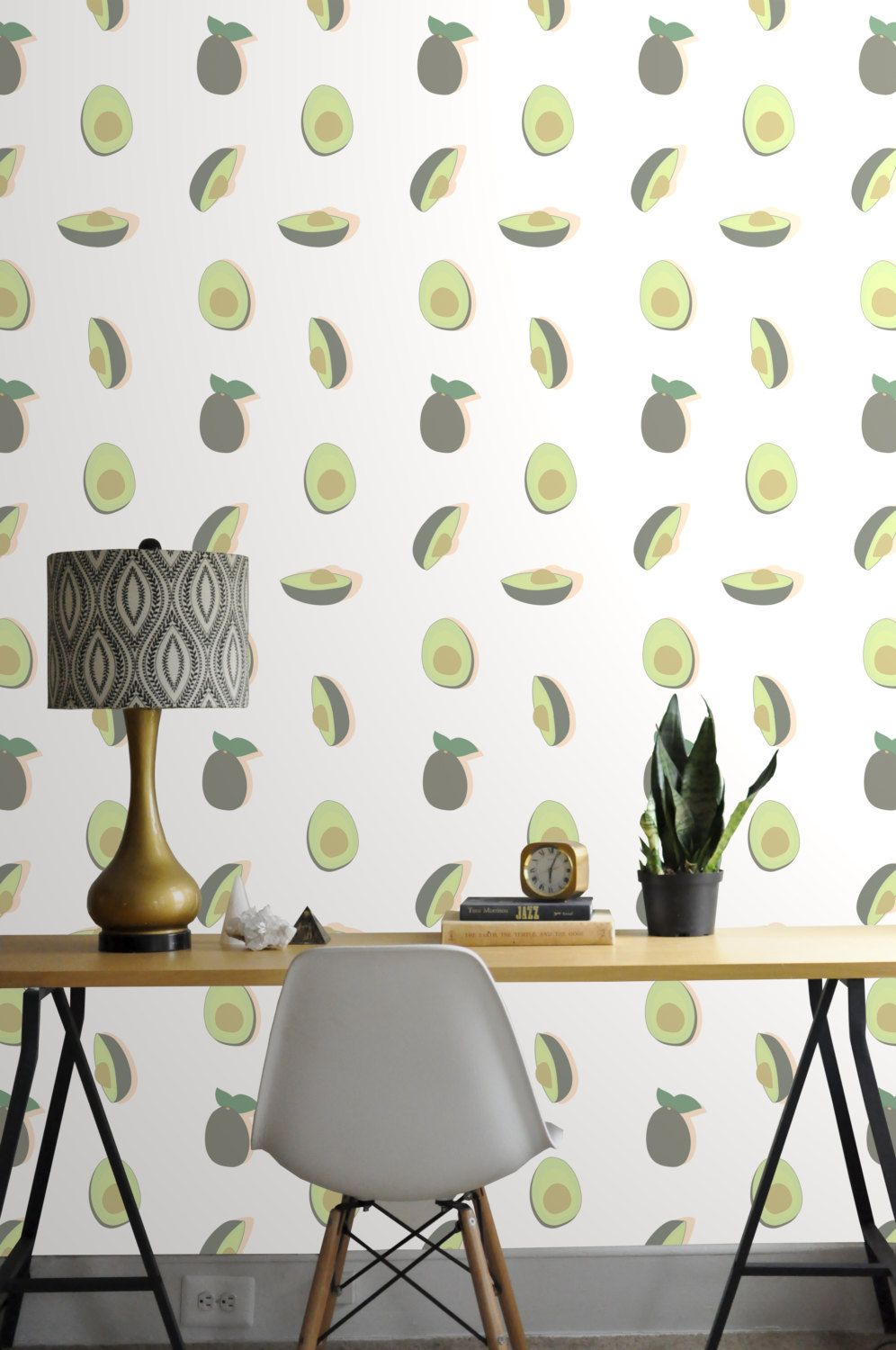 Removable Wallpaper // Avocado Print // Perfect for way to add some ...