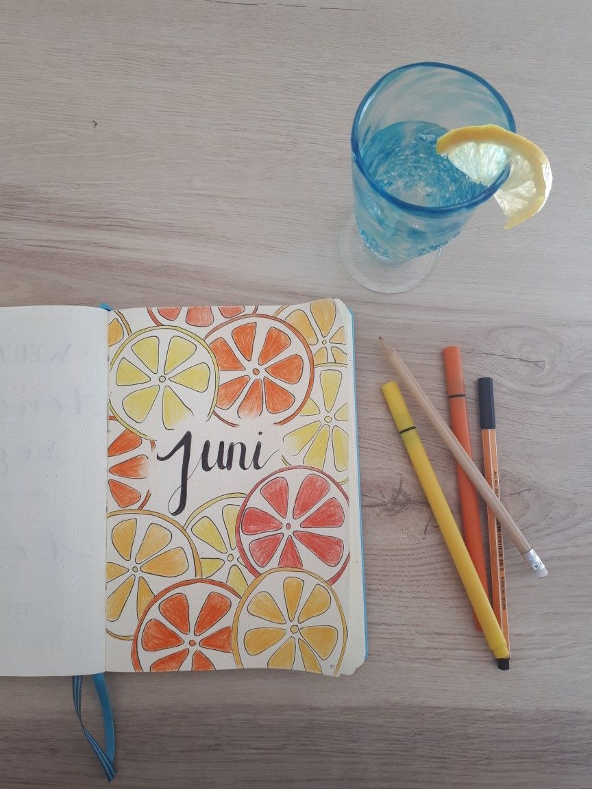 Bullet Journal Juni/June Cover Page #bulletjournaloctobre
