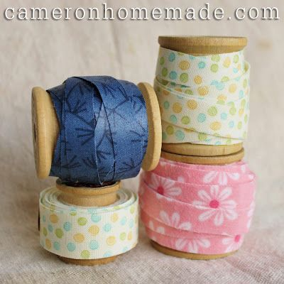 Homemade DIY Projects & Tips by Cameron: Fabric Tape -   Great Tutorial.. Can't wait to make some =)