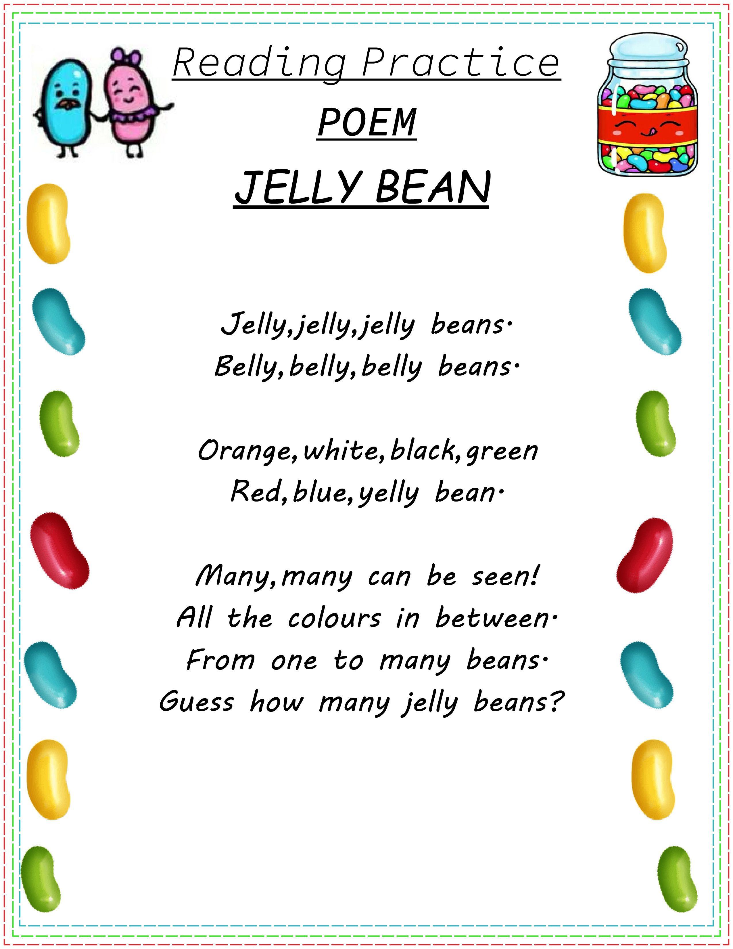 Reading Practice Jelly Bean By Schoolmykids In