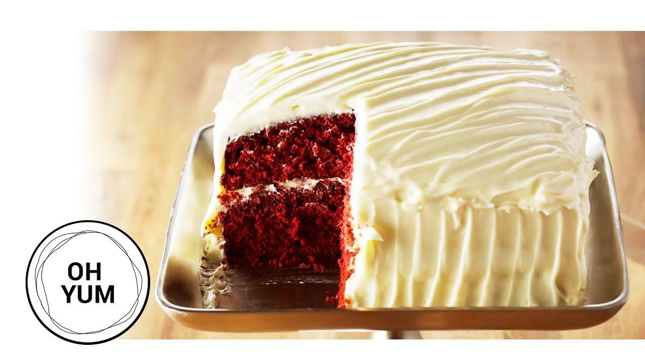 Amazing Red Velvet Cake Recipe Oh Yum With Anna Olson Youtube Red Velvet Cake Velvet Cake Recipes Red Velvet Cake Recipe