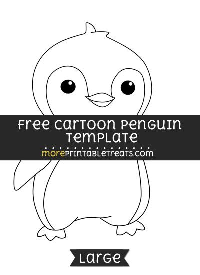 Free Cartoon Penguin Template  Large  Shapes And Templates