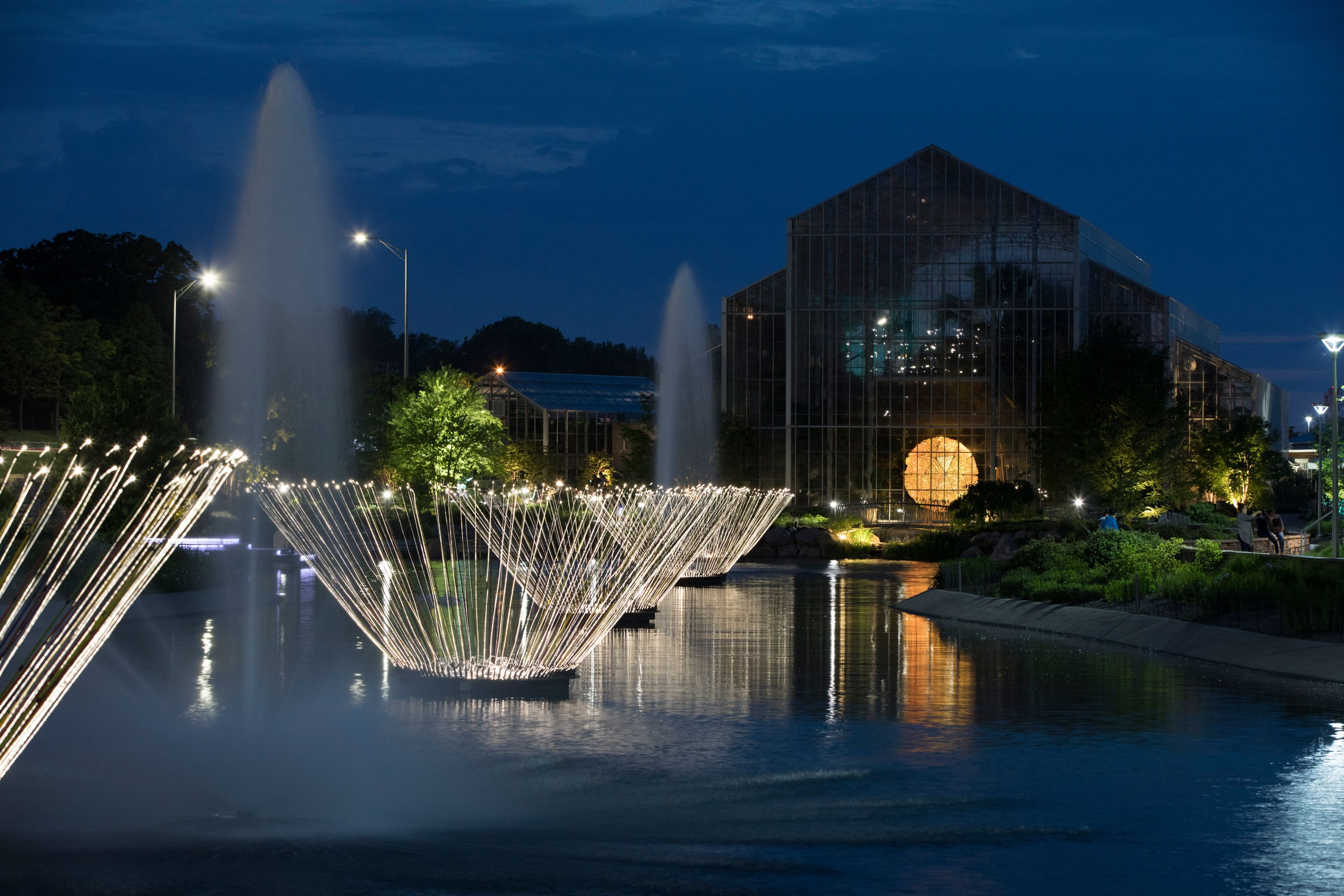 Bruce Munro Light Shines Throughout The Beautiful Nicholas Conservatory Gardens In Rockford