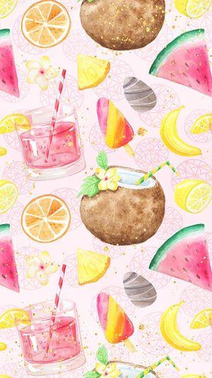 ギャラリーイラスト 果物 イラスト かわいい Iphone 用壁紙 果物 イラスト かわいい 壁紙アート