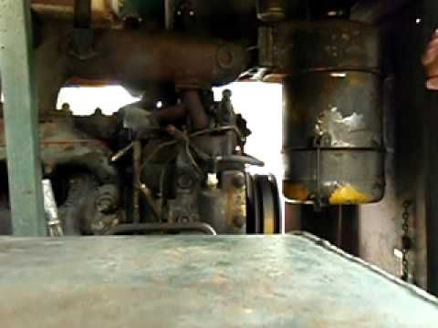 How to start a D318 caterpillar diesel engine with a cat gas pony