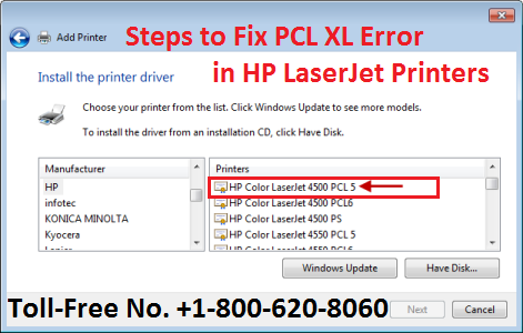 Steps to Fix PCL XL Error in HP LaserJet Printers