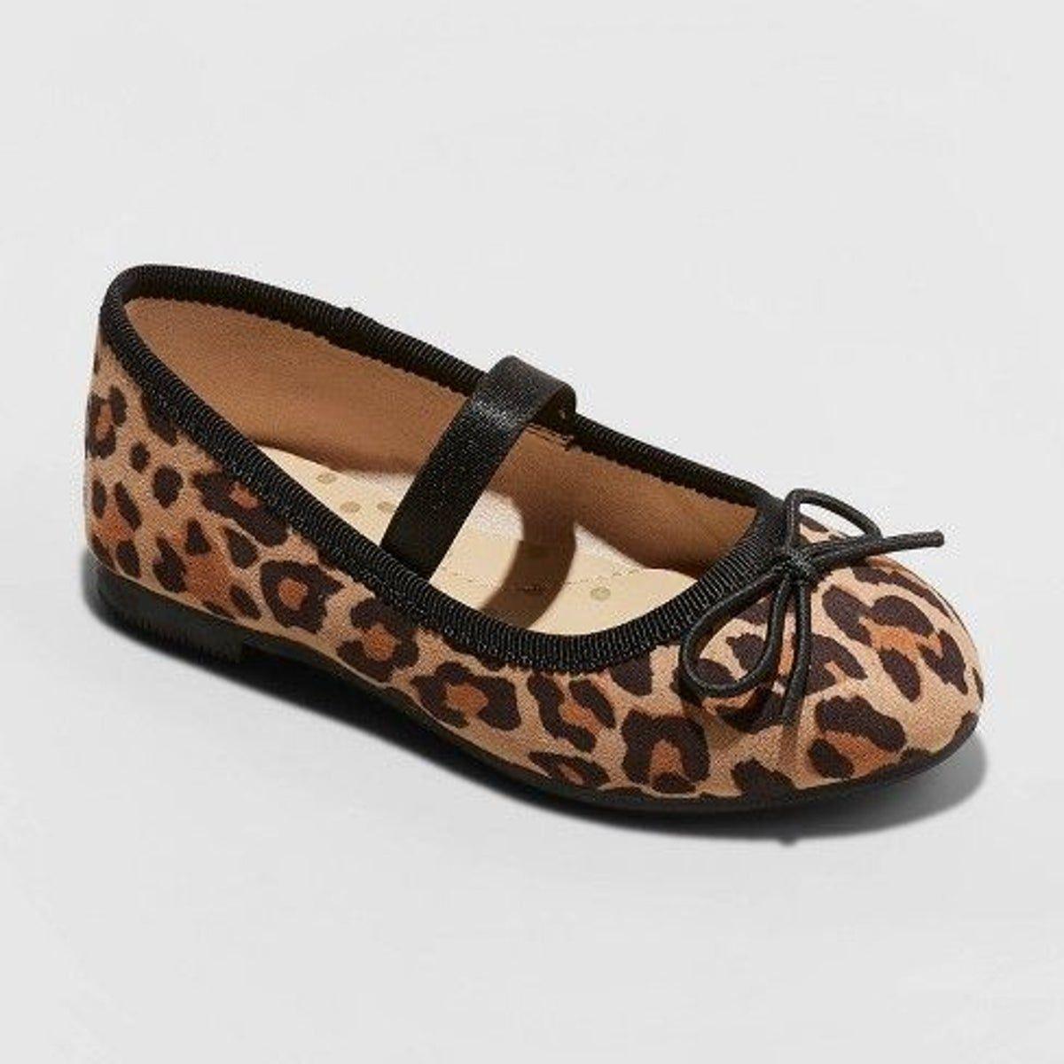 NWT (4) T Girls Leopard Ballet Flats