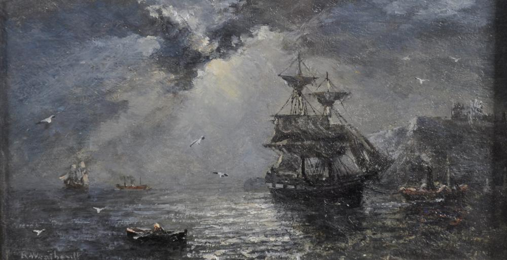 Richard Weatherill (1844-1913) British. A Moonlit Seascape w
