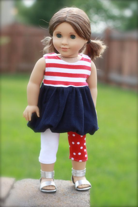 Red White and Blue Knit Bubble Dress/Legging Set by Closet4Chloe, $20.00