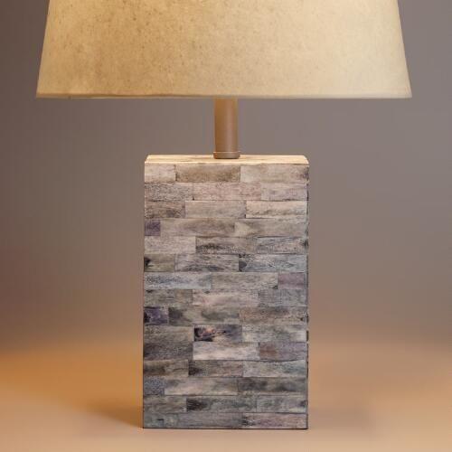 Bone Tile Table Lamp Base Table Top Lamps Lamp Unique Lamps