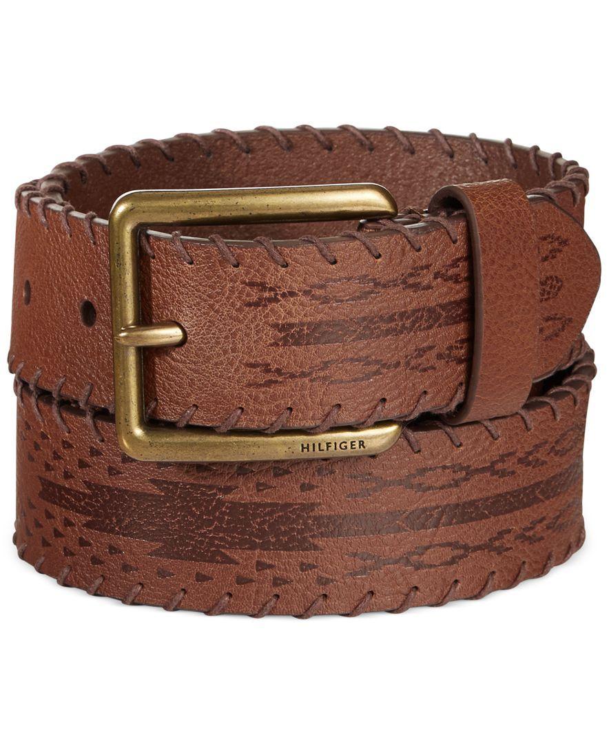 Tommy Hilfiger LacedEdge Brown Cowboy Belt Cowboy belt