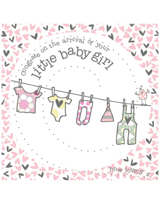 The perfect new baby girl congratulations card for friends and - baby girl congratulations card