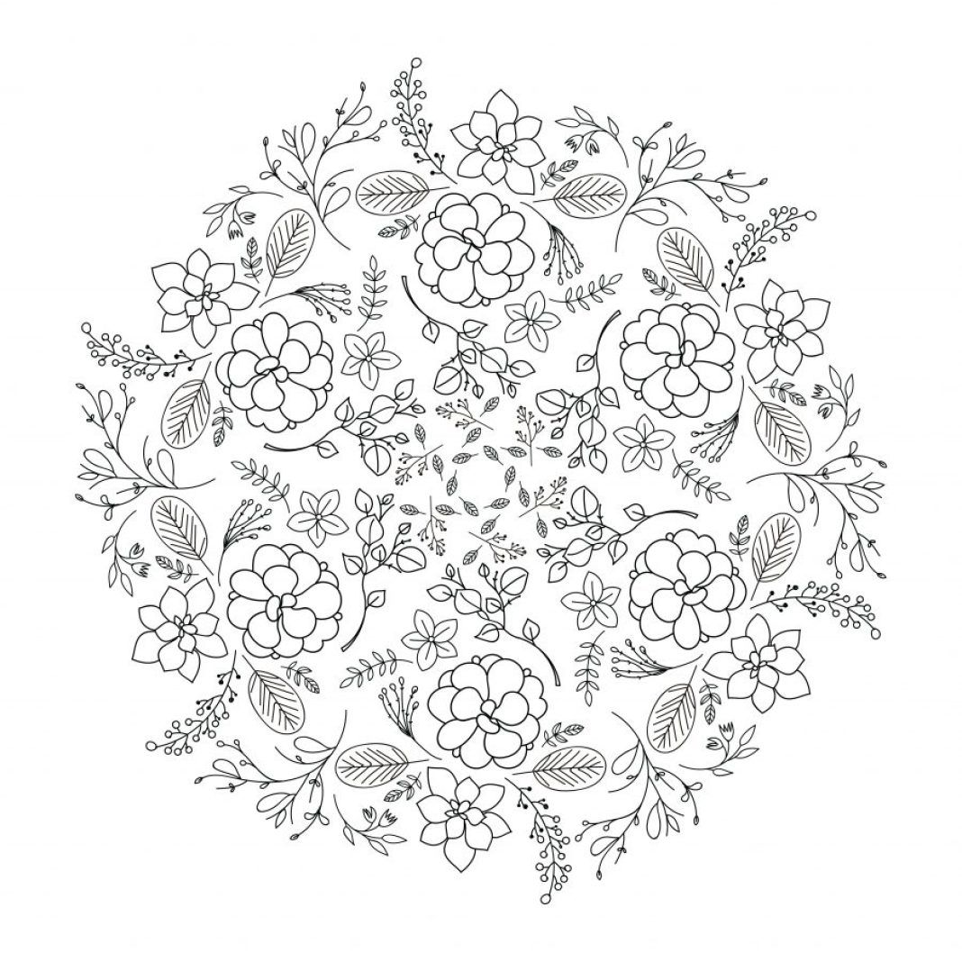 Mandalas De Flores Para Imprimir Pdf Gratis Zentangle Mandala
