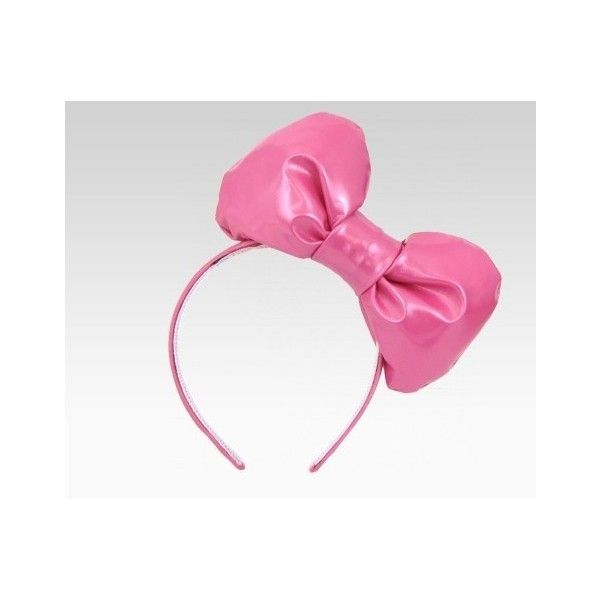 f548cf2e0 Hello Kitty x Chubby Bunny Pink Bow Headband (€27) ❤ liked on Polyvore  featuring accessories, hair accessories, hello kitty, head wrap headband,  hair bow ...