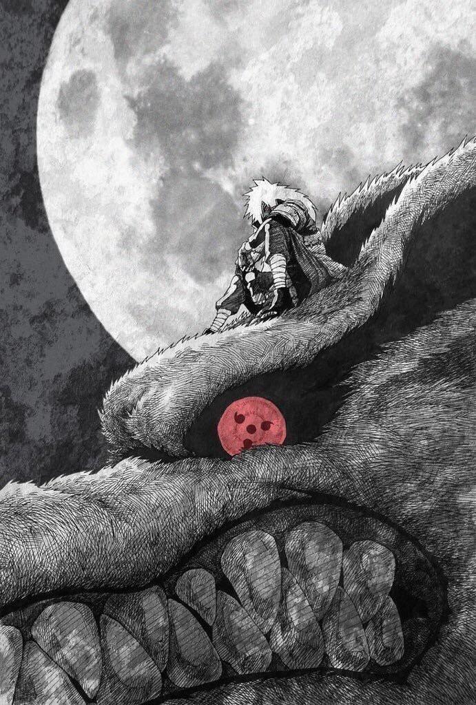Nine Tails Madara Uchiha Naruto Art Anime Naruto