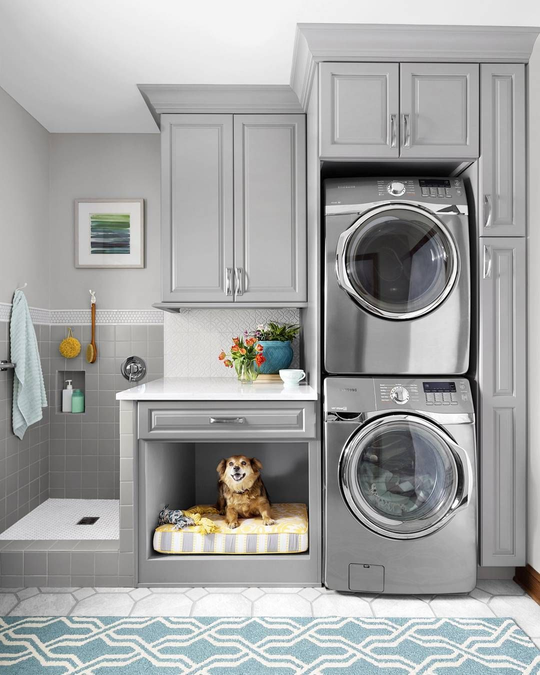 Laundry room pet bed shower 8 39 6 x 6 39 6 laundry for 6x6 room design