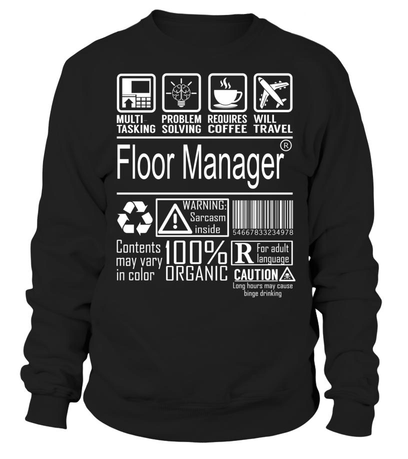 Floor Manager Multitasking Job Title T-Shirt #FloorManager